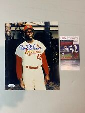 Bob Gibson Autograph Signed Cardinals 8x10 Photo JSA