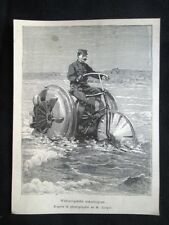Velocipede nautico Incisione del 1894