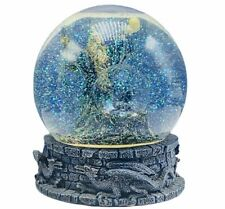Dragon Wizard snowglobe sorcerer apprentice snowdome water ball Vandor music box