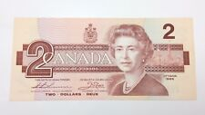 1986 Canada 2 Two Dollars Prefix BBA Canadian Uncirculated Banknote E418