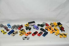 Maisto 1:64 Diecast Lot of 33: Trucks, Construction, Cars, Racing, Delivery Van
