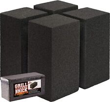 8x4 Heavy-Duty Grill Cleaning Brick Multipack, Non-Scratch Black Pumice Stone