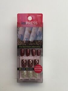 KISS imPRESS False Nails Press On Manicure - Night Fever 24 Nails