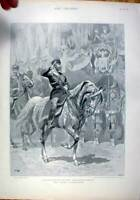 Original Old Antique Print The Czar Russia State Entry Into Moscow 1896 19th