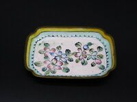 Antique Chinese Miniature Painted Enamel Dish