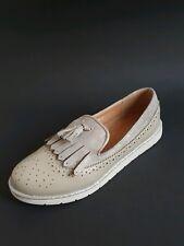 ❤NEU❤Gr.37 Grau /Silber Damen Ballerinas Mokassin Fransen Flats Freizeit Schuhe