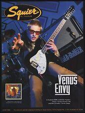Kula Shaker Crispian Mills Fender Squier Vista Venus 12 string guitar 8 x 11 ad