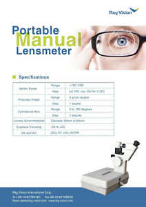 Portable Manual Lensmeter NJC-1 Focimeter Lensometer Optometry Optic Machine