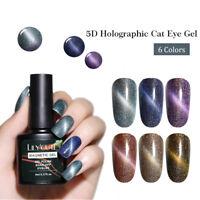 LILYCUTE 8ml Cat Eye Gel 5D Holographic Shimmer Glitter Soak Off UV Gel Polish