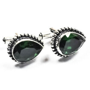 Chrome Diopside  925 Sterling Silver Jewelry Cufflink Adjustable
