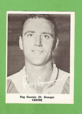 #D317. 1967 MIRROR NEWSPAPER RUGBY LEAGUE CARD - REG GASNIER,  ST GEORGE