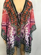 PURE HYPE SIZE S/M GORGEOUS EMBELLISHED BATWING KAFTAN TOP