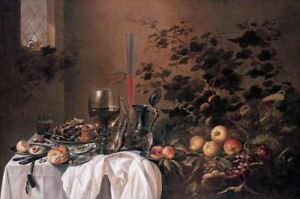 """perfect 36x24 oil painting handpainted on canvas """"still life""""@N14840"""