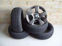 "2541 Genuine 17"" BMW 157 3 Series E90 E91 Grey Alloy Wheels & New Winter Tyres"