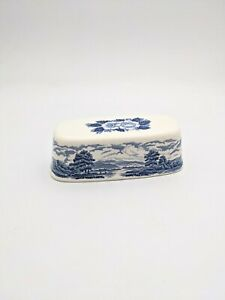 Royal Warwick Lochs of Scotland Covered Butter Dish Lid Loch Leven