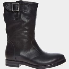 CLARKS Ladies Womens Black Leather 'Sicilly Day' Boots - size UK 4D / EU 37