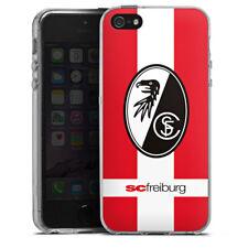 Apple iPhone SE Silikon Hülle Case - SC Freiburg - Schriftzug