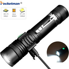 12000LM LED Flashlight Zoomable Torch Bicycle Light Rechargeable Lamp T6/L2/V6