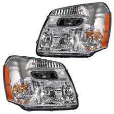 Chevy Equinox 05-09 Left Driver & Right Passenger Headlights Headlamps Pair Set