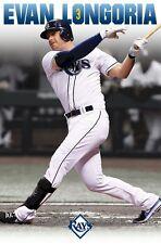 EVAN LONGORIA ~ SWING 22x34 POSTER Tampa Bay Rays MLB Baseball NEW/ROLLED!