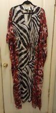 Animal Print Polyester Kaftan Dresses for Women