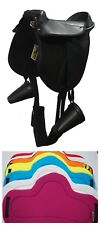 Pony Pad~Fully Mounted Incl Clogs,Girth, Leathers 12 Inch  ** FREE SADDLE CLOTH
