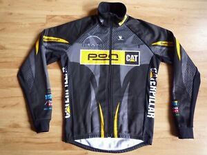 Vermarc Continental Caterpillar Wind Tex Full Zip Cicling Jersey Jacket Size M