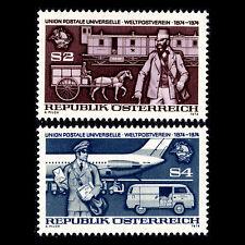 Austria 1974 - 100th Anniv of the Universal Postal Union UPU - Sc 1004/5 MNH