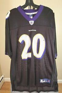 Baltimore Ravens NFL Reebok Vintage Black Ed Reed #20 XL Jersey