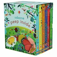 NEW Usborne Peep Inside 6 Books Illustrated Collection Boxed Set Children's Gift