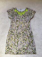 BNWT Boden Dress Size 14 Black, Dusty Pink, Lime Green