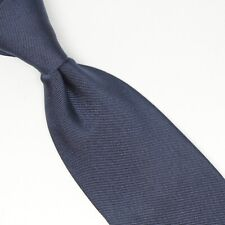 Manolo Costa Mens Silk Necktie Solid Navy Dark Blue Twill Opus One Made in Italy