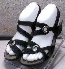 PARFOLIA BLACK LMPFSA50 Women's Shoes Size 5 (EUR 35) Leather Sandals Mephisto