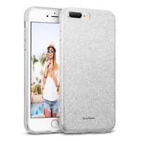 Handy Hülle iPhone 8 Plus Schutz Hülle Silikon Cover Glitzer Case Slim Tasche