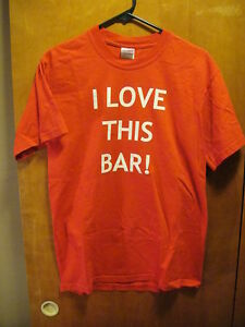 I LOVE This Bar! Morrie's Tavern There is a Difference TN T Shirt Medium Red