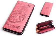Date A Live Tokizaki Kurumi PVC Leather Anime Pink Zip Around Wallet Purse
