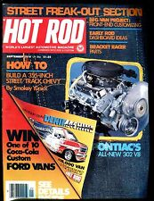 Hot Rod Magazine September 1976 Pontiac 302 V8 VG No ML 011617jhe