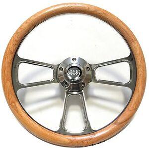 1948 - 1959  GMC Pick Up Trucks Real Oak & Billet Steering Wheel GMC Horn Kit