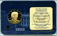DONALD TRUMP PRESIDENTIAL LEADERSHIP COIN PROOF VALUE $99.95