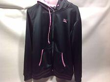 Mizuno Field Gear Jenny Finch full zip hoodie sweatshirt black/pink Large