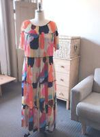⭕️ NEW  Exclusive Gorman x Katie Eraser Printed Tiered Maxi Long Dress 1214/16⭕️