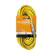DuraDrive 50 ft. 12/3 SJTW Single Tap Lighted Connector End Extension Cord