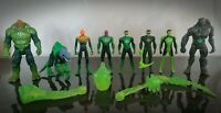 DC Green Lantern Action Figure & Accessory Bundle Set Mattel 2010 Rare