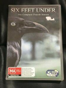 Six Feet Under : Season 4 (DVD, 2005, 5-Disc Set) Very Good Condition Region 4