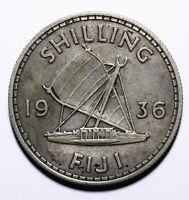1936 Fiji One 1 Shilling - George V - Lot 660