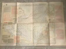 Pilot Chart of the North Atlantic March 1938 printed Feb 16, 1938 38x26 inches