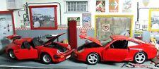 1989 Porsche Speedster + 1997 Porsche 911 carrera 1/24 diecast. + BIN bonus