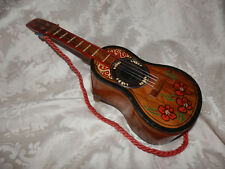 VINTAGE MUSICAL GUITAR JEWELLERY BOX!EXCELLENT COND!LAQUERED WOOD.ANTIQUE.