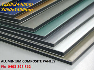 1220x2440x3mm Aluminium Composite Panel Sheet Trailer Cladding Building Signage