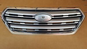 fits 2015-2017 SUBARU OUTBACK Front Bumper Grille Silver & Chrome Upper NEW